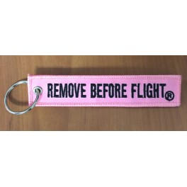 Remove Before Flight - Pink Keychain